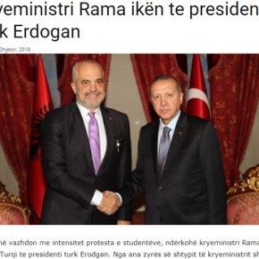 Ξαφνική αναχώρηση: Ο πρωθυπουργός της Αλβανίας σε συνάντηση με τον Τούρκοπρόεδρο