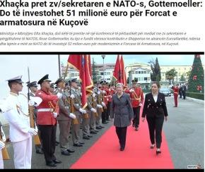 Αλβανία: Η υπουργός Άμυνας φιλοξένησε την αναπληρώτρια γραμματέα του ΝΑΤΟ- 51 εκατ ευρώ στη βάσηΚουσόβα