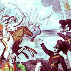 Χαϊδάρι: Το ελληνικό πεζικό κυνηγά με την λόγχη τους Τούρκουςιππείς…