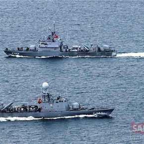 Τρία πολεμικά πλοία και ένα περιπολικό έβγαλαν οι Τούρκοι σταΊμια!