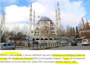 Αλβανία: Το μεγαλύτερο τουρκικό τζαμί στα Βαλκάνια ανοίγει σταΤίρανα