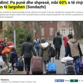 Αλβανία-Έρευνα: Έξι στους δέκα νέουςμεταναστεύουν