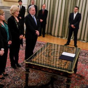 Ορκίστηκαν οι νέοι υπουργοί της κυβέρνησης-Οι πρώτες δηλώσεις-Φωτογραφίες.