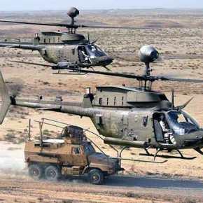Έρχεται το «ιπτάμενο ιππικό»: Τα ανταλλακτικά των Kiowa έφθασανΕλλάδα