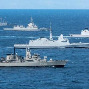 """Υποβρύχιο Παπανικολής και φρεγάτα Έλλη στη ΝΑΤΟϊκή """"Dynamic Manta2019"""""""