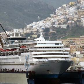Στα ναυπηγεία της ONEX στη Σύρο το κρουαζιερόπλοιο CELESTYALOLYMPIA