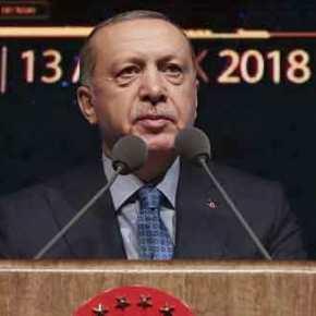 Προκαλεί οργή ο Ερντογάν: «Οι Έλληνες τρόμαξαν από τη ΓαλάζιαΠατρίδα»