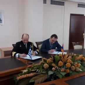 Υπογραφή προγράμματος στρατιωτικής συνεργασίας (ΠΣΣ) Ελλάδος- Αρμενίας2019