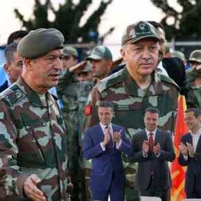 Μέτωπο Σκοπίων-Άγκυρας κατά Ελλάδας: O Ερντογάν σχεδίαζε βάση αρμάτων μάχης πάνω από τηνΘεσ/νίκη!