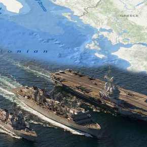 Αρμάδα από πολεμικά πλοία Γαλλίας-ΗΠΑ-Βρετανίας κάνει ασκήσεις στο Ιόνιο – Ακολουθεί ηΑ.Μεσόγειος