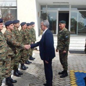 Ο ΑΝΥΕΘΑ Ρήγας επισκέφτηκε την 34η Μ/Κ ΤΑΞ…ΣυνοδείαΣτρατάρχη