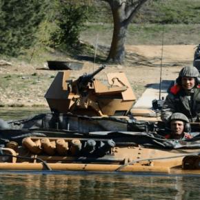 Τουρκική άσκηση διάβασης Ποταμού στο «Kırklareli»(φωτό)