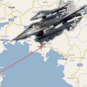 Μαζικές μετασταθμεύσεις τουρκικών F-16 απέναντι από ταΔωδεκάνησα