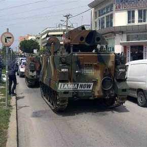ΝΤΡΟΠΗ… ΝΤΡΟΠΗ… στη Χαλκίδα… Άρμα μάχης «έμεινε» στο κέντρο τηςπόλης