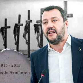 «Ράπισμα» Σαλβίνι σε Ερντογάν: Το Ιταλικό κοινοβούλιο αναγνώρισε την γενοκτονία τωνΑρμενίων!