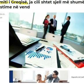 Αλβανία: Τα πρωτεία της Ελλάδας πέφτουν, στη δεύτερη θέση στον τομέα τωνεπενδύσεων