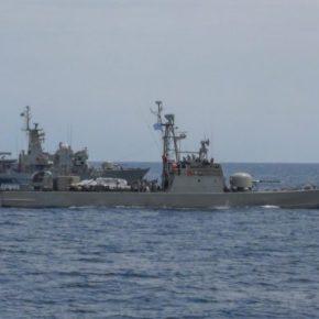 Εθνική άσκηση «Βροντή 2/19» του ΠΝ…Με συμμετοχή ΤΠΚ & Σκάφους των ΔΥΚ  23 Μαΐου 2019slide, Άμυνα    86 SHARES ShareTweet    Από το Γενικό Επιτελείο Ναυτικού ανακοινώνεται ότι την Τετάρτη 22 Μαΐου 2019, διεξήχθη η εθνική τεχνική άσκηση μικρής κλίμακας «ΒΡΟΝΤΗ 2/19», με τη συμμετοχή κανονιοφόρων, πυραυλακάτου καθώς και σκάφους τηςΔΥΚ.