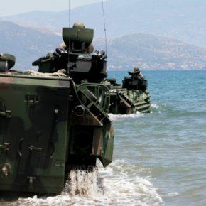 Τα Αμφίβια Τεθωρακισμένα «AAV7A1″ στην 32 ΤΑΞ-ΠΖΝ…Η Ελληνική απάντηση στα Τούρκικα«AAV7»