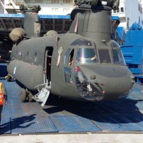 Με το πρώτο φως αποβιβάζονται τα «OH-58D Kiowa Warrior» & το 10 Σινούκ της Α.Σ ….Παρουσία του Α/ΓΕΣ(φωτό)