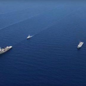 Μήνυμα ισχύος από το πολεμικό Ναυτικό που ταυτόχρονα αγκαλιάζει τα νησιά τουΑιγαίου