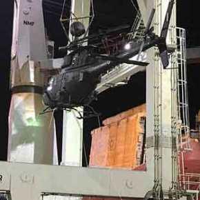 Φορτώθηκαν τα Kiowa Warrior σε πλοίο για το ταξίδι στηνΕλλάδα