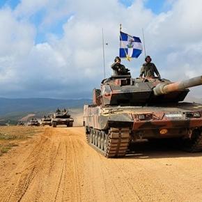Καταιγισμός πυρών από άρματα μάχης και πυροβολικό στην ασκηση ΔούρειοςΊππος