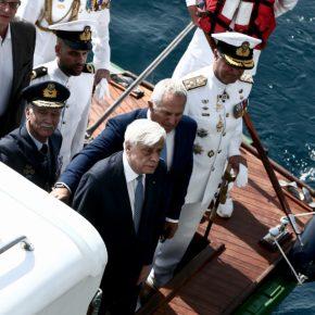 ΠτΔ: Ο Προκόπης Παυλόπουλος επιθεώρησε τον Στόλο παρουσία Αποστολάκη[pics]