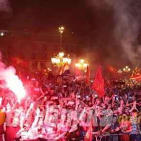 Ανθελληνικές κραυγές στα Σκόπια: «Ποτέ Βόρεια – ΜόνοΜακεδονία»