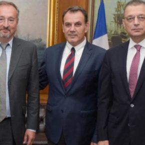 ΥΠΕΘΑ: Συναντήθηκε με τον Γάλλο πρέσβη ο Νίκος Παναγιωτόπουλος[pic]