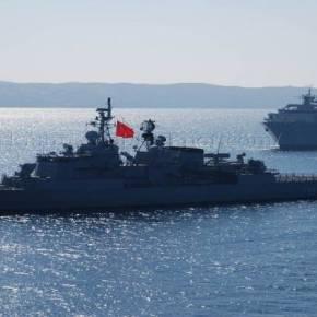 Κυπριακή ΑΟΖ: Εντοπίστηκε νέα φρεγάτα – «προστάτης» στον «Πορθητή»[pics]