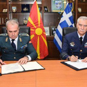 ΓΕΕΘΑ: Υπεγράφη η συμφωνία αστυνόμευσης εναέριου χώρου μεταξύ Ελλάδας και Βόρειας Μακεδονίας[pics]