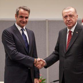 Ολοκληρώθηκε η συνάντηση Μητσοτάκη – Ερντογάν – Τα έλεγαν για πάνω από μία ώρα[pics/vid]