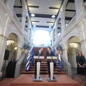 Μητσοτάκης – Ρούτε: Συζήτηση για οικονομία, «πράσινες» επενδύσεις καιπροσφυγικό