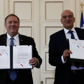 Πομπέο: Με τις νέες βάσεις «η Ελλάδα θα είναι πιοασφαλής»