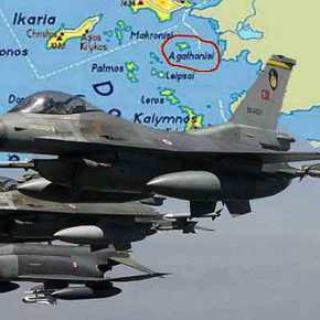 Προκαλούν και πάλι οι Τούρκοι με υπερπτήσεις στο Αιγαίο… Μαχητικά πέταξαν πάνω από το Αγαθονήσι και τις νησίδες Ανθρωποφάγοι καιΜακρονήσι