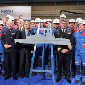Παρουσία του Α/ΓΕΝ η κοπή πρώτου ελάσματος για την πρώτη φρεγάτα τύπου Belh@rra της Naval Group(pics/vid.)