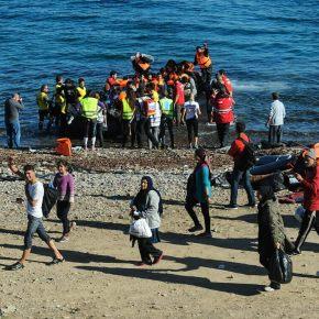 «Απόβαση» μεταναστών στηΜυτιλήνη