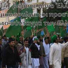 Σέρρες: Οι μουσουλμάνοι έποικοι διαδηλώνουν κατά των Ελλήνων κατοίκων της περιοχής(φώτο)