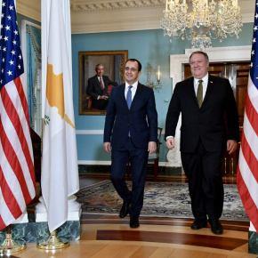 Προς περαιτέρω αναβάθμιση σχέσεων Κύπρου-ΗΠΑ – Ολοκληρώθηκε επιτυχώς η συνάντηση Χρισοδουλίδη-Πομπέο – Δεσμεύσεις απόΟυάσινγκτον
