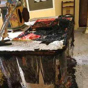 Επίθεση στην Ορθοδοξία: Έκαψαν την Αγία Τράπεζα σε εκκλησία τηςΧίου