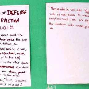 Το σημείωμα με «οδηγίες άμυνας» σε περίπτωση εκκένωσης που βρέθηκε στοΚουκάκι