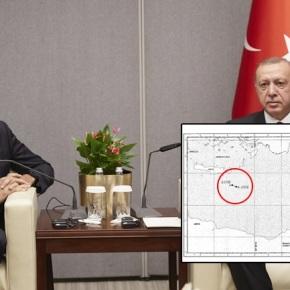 Ο αυθεντικός χάρτης της συμφωνίας Τουρκίας –Λιβύης