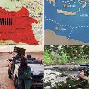 «Πετάξτε τους τούρκους στην Θάλασσα..»…!!! Έτσι Οι ΚΟΥΡΔΟΙ χαιρετάνε τους μαχητές του Χαφτάρ και με χάρτη της ΕλληνικήςΑΟΖ…!!!