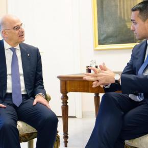 Κοινή θέση Δένδια-Ντι Μάιο για ταχεία οριοθέτηση ΑΟΖΕλλάδας-Ιταλίας