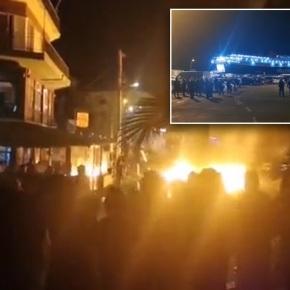 «Πνίγηκαν» στα δακρυγόνα η Μυτιλήνη και ηΧίος