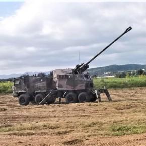 Πρώτες βολές των πυροβόλων Nora-B52 της ΕθνικήςΦρουράς