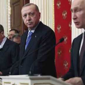 Βίντεο: Ο Β.Πούτιν αφήνει τον Ρ.Τ.Ερντογάν να περιμένει όρθιος σαν… κλητήρας μέχρι να τονδεχτεί