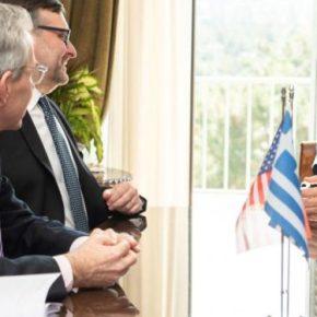 Συνάντηση Ν. Παναγιωτόπουλου με Τζέφρι Πάιατ και τον υφυπουργό Πάλμερ για την αμυντική συνεργασία και τομεταναστευτικό