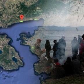 Συγκεντρώνουν μετανάστες απέναντι από τηΛέσβο