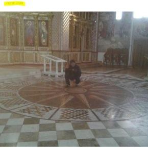 Πρόκληση για Ζάεφ: Ο Ήλιος της Βεργίνας βρίσκεται στο πάτωμα της Αγίας Τριάδας, θα τονξηλώσετε;